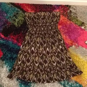 Moss Geoprint Sundress